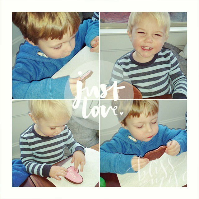 My little #valentines with their #valentinescookies #hobbsboys