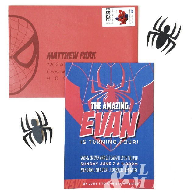 Planning a #spiderman #birthday party for Evan! :)