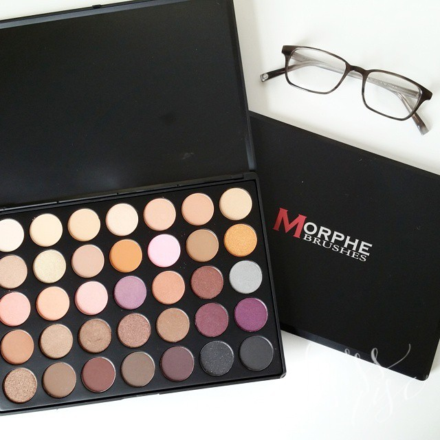 Fun mail day! New #morphebrushes palette and some #warbyparker try-ons.…