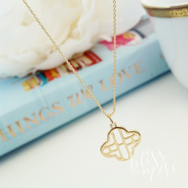 Two of my favorite things! #monogram #clover #prettythings #clovernecklace #monogramnecklace…