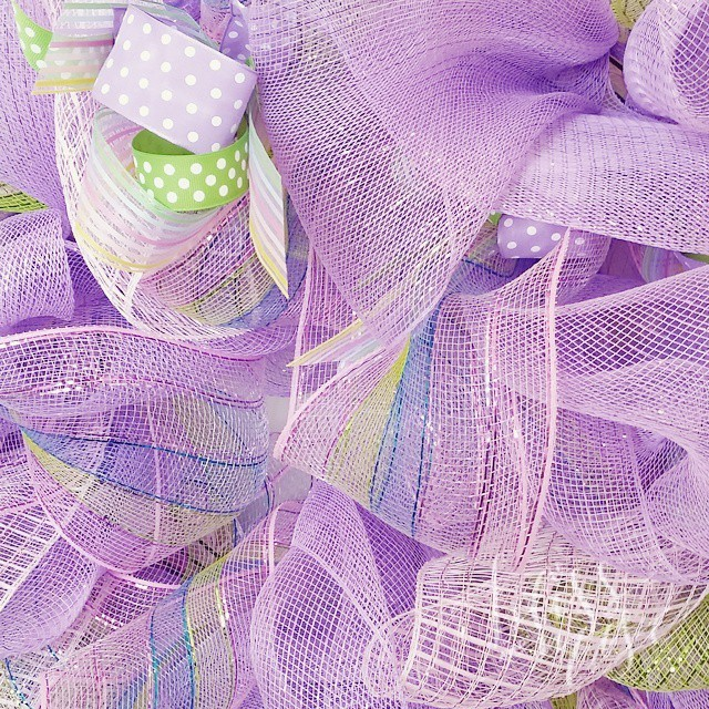 Creating another monstrosity...these mesh wreaths kind of get away from…
