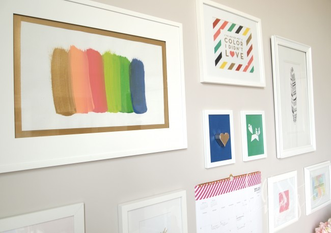 Office Gallery Wall, DIY Painting