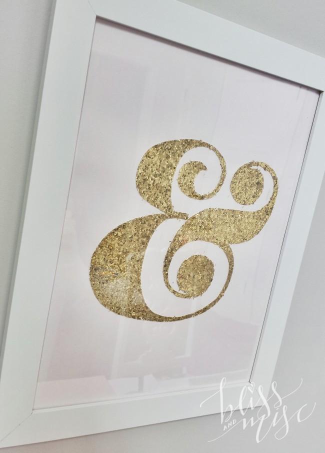 Gold Ampersand