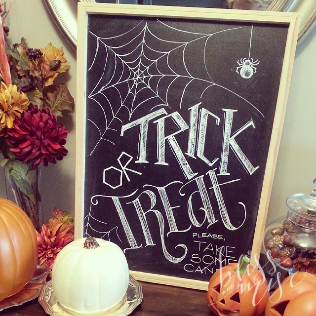 Ready for tonight! #trickortreat #HappyHalloween #chalkboardart