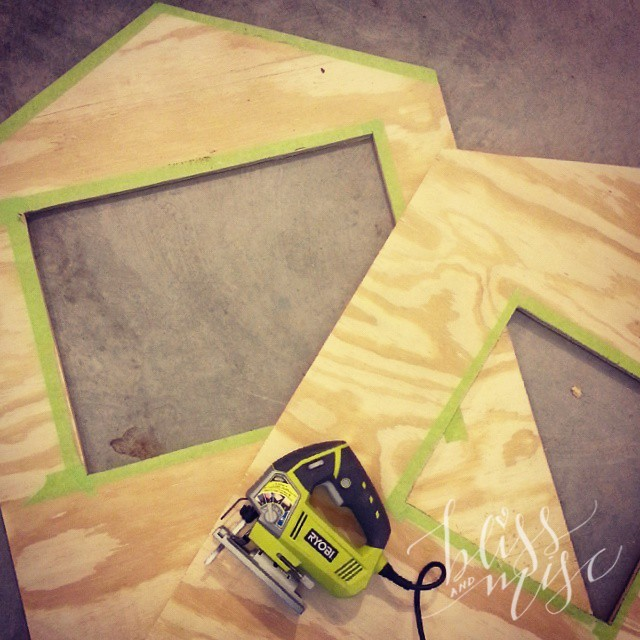 Attempting to remember everything I learned in shop class...unfortunately I made a clock #diyadventures #playhouse #projectchristmas #totallymakingitupasIgo