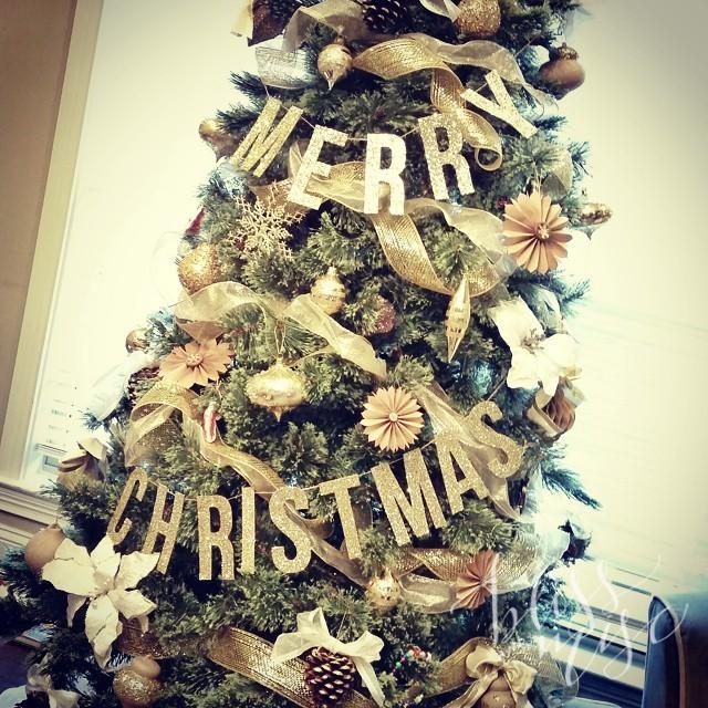 #christmastree #gold #kraft