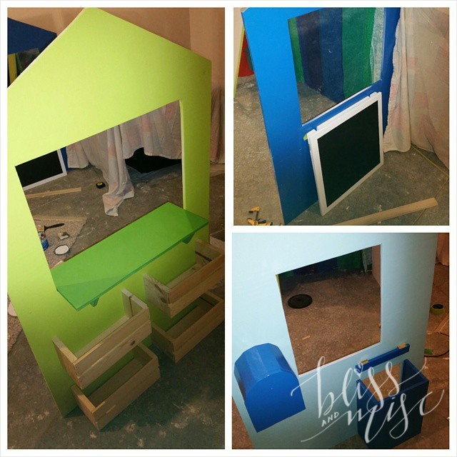 Slowly starting to take shape...hopefully it'll be finished by Christmas! #DIY #playhouse #neverendingproject