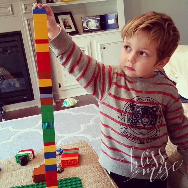 Building tall towers #duplo