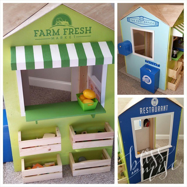 On the blog (link in profile) my #DIY #playhouse #woodentoys #diytoys #farmersmarket #imaginativeplay