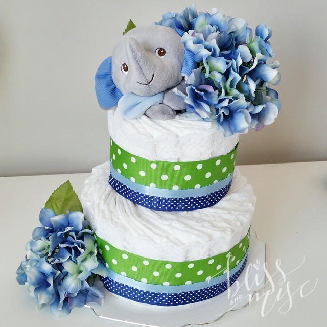 #diapercake #babyshower #elephant