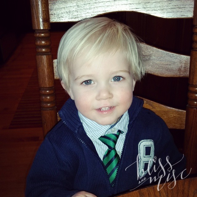 All dressed up #tinytie #blondie #sohandsome