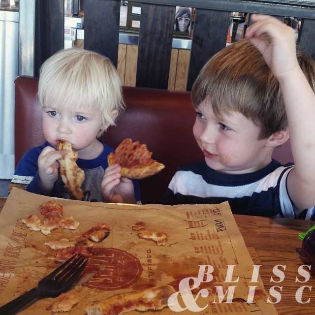 Lunch date #hobbsboys #coveredinpizza