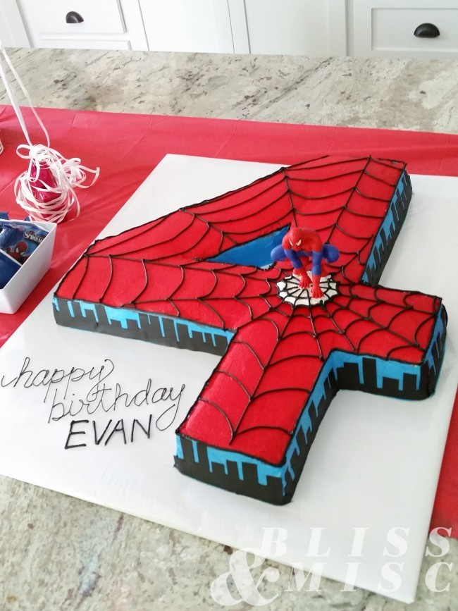 Fourth Birthday Spiderman Cake