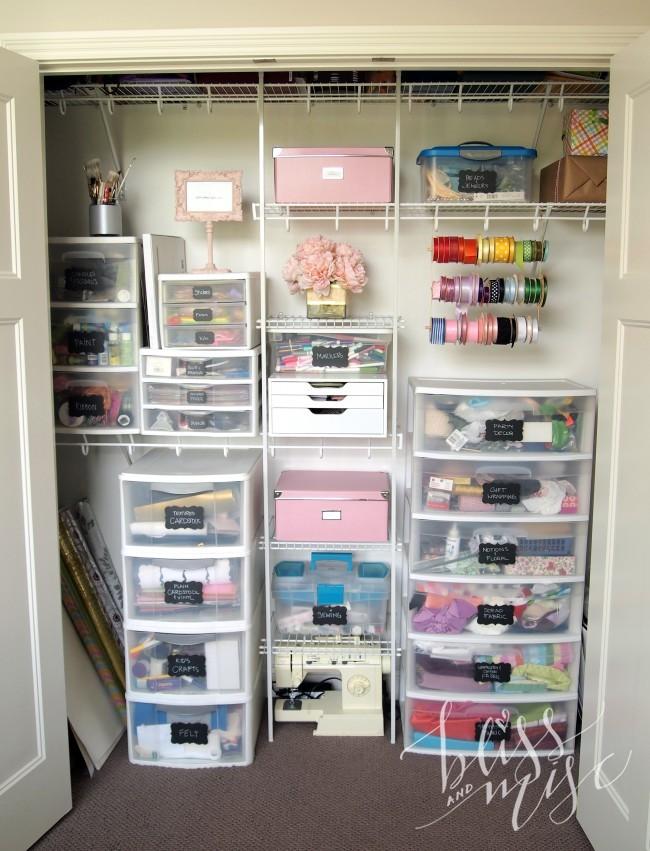 office storage closet ideas - Craft Closet & DIY Ribbon Storage – Bliss & Miscellaneous